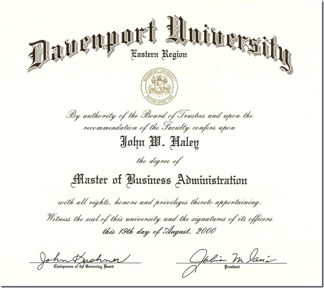 Degrees & Certificates | John W. Haley