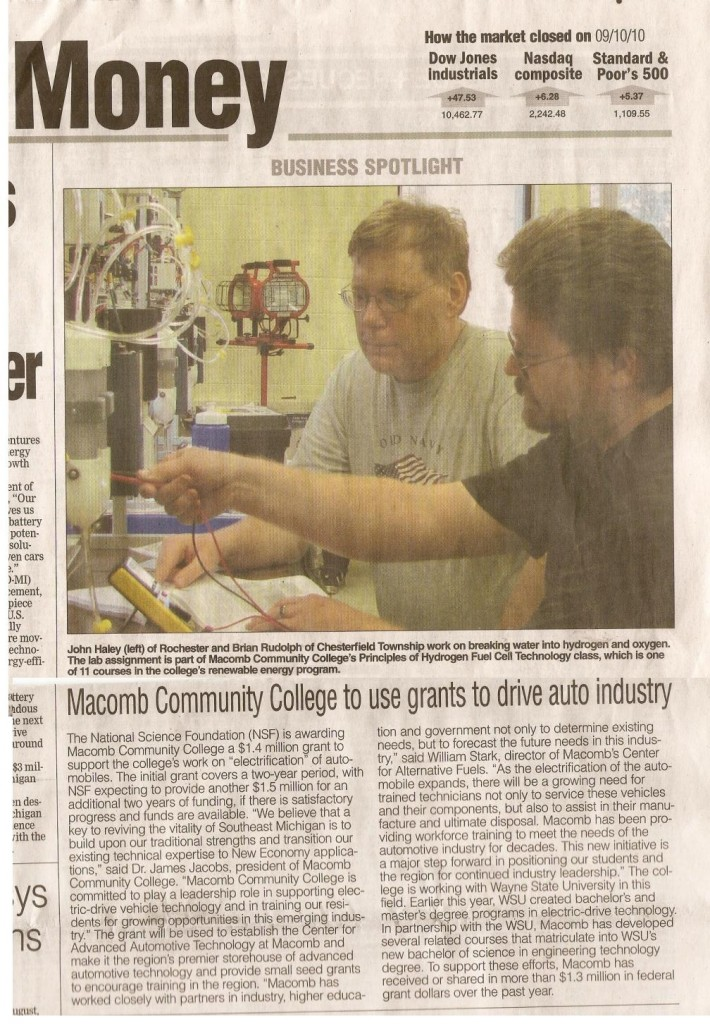 Renewable Energy Class at macomb Community College